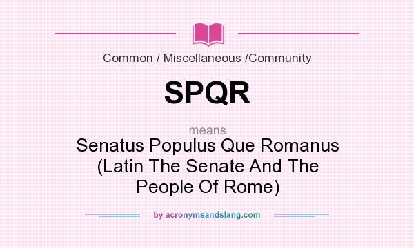 senatus word meaning