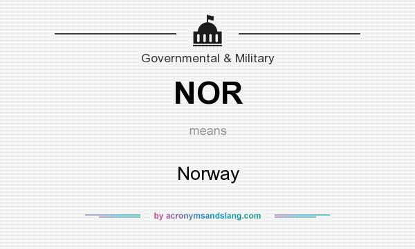 What does NOR mean? It stands for Norway