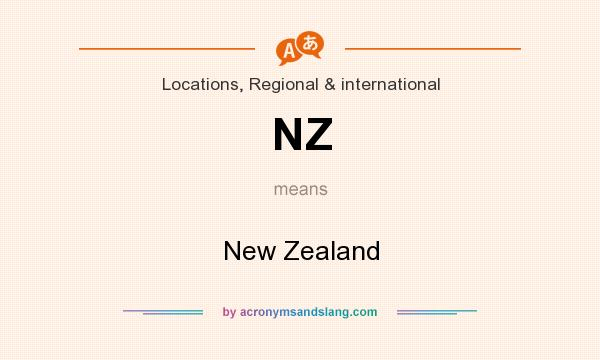 What does NZ mean? It stands for New Zealand