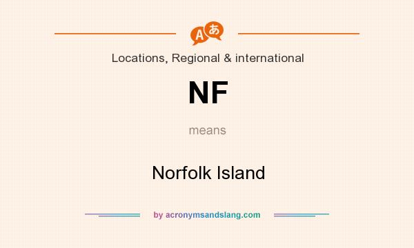 What does NF mean? It stands for Norfolk Island