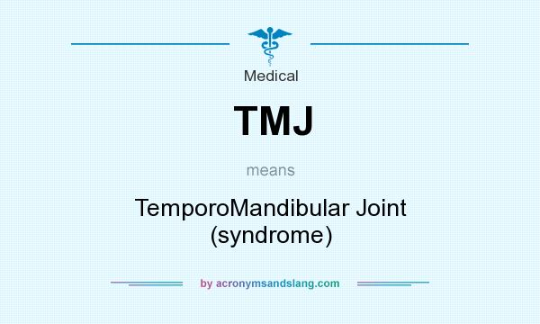 What does TMJ mean? It stands for TemporoMandibular Joint (syndrome)
