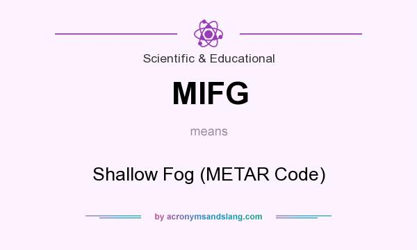 What does MIFG mean? It stands for Shallow Fog (METAR Code)