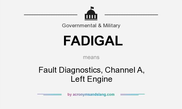What does FADIGAL mean? It stands for Fault Diagnostics, Channel A, Left Engine