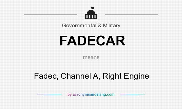 What does FADECAR mean? It stands for Fadec, Channel A, Right Engine