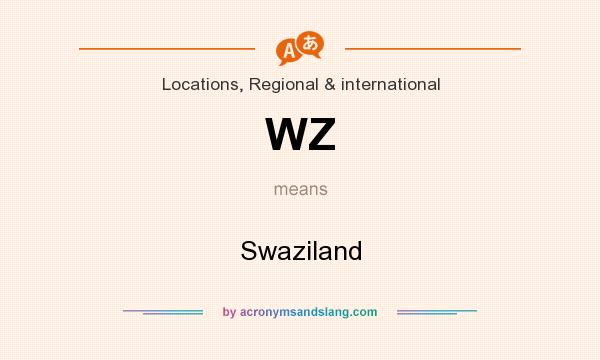 What does WZ mean? It stands for Swaziland