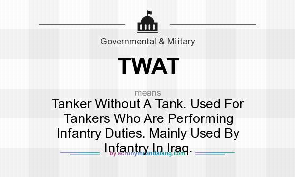 Twat Tanker Without A Tank Used For Tankers Who Are Performing