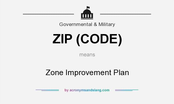 What does ZIP (CODE) mean? It stands for Zone Improvement Plan