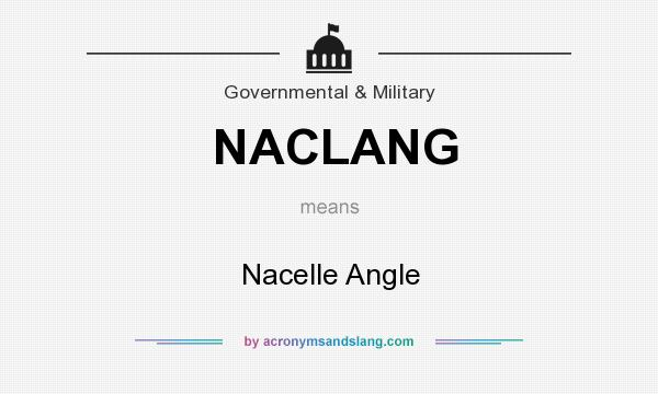 What does NACLANG mean? It stands for Nacelle Angle