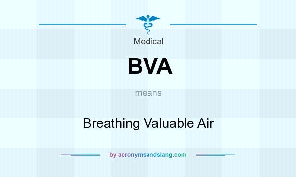 What does BVA mean? It stands for Breathing Valuable Air