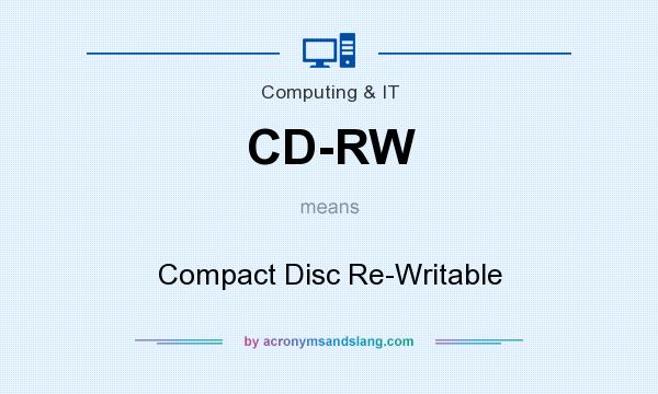 What does CD-RW mean? It stands for Compact Disc Re-Writable