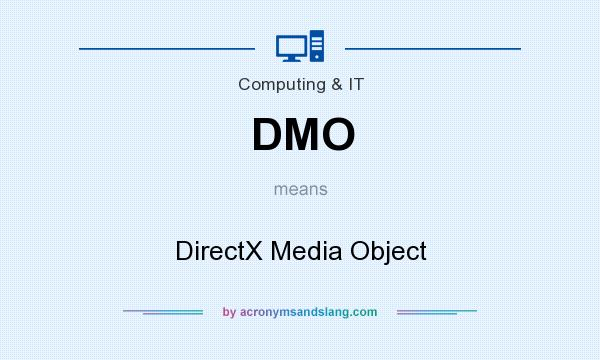 What does DMO mean? It stands for DirectX Media Object