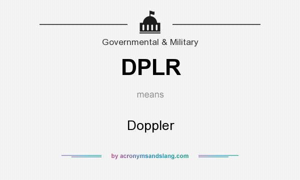 What does DPLR mean? It stands for Doppler
