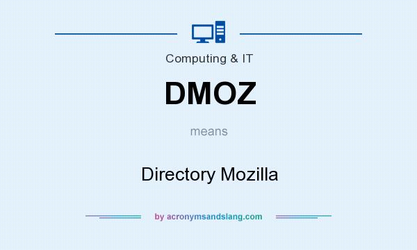 What does DMOZ mean? It stands for Directory Mozilla