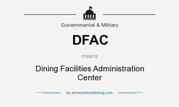 What does DFAC mean? It stands for Dining Facilities Administration Center