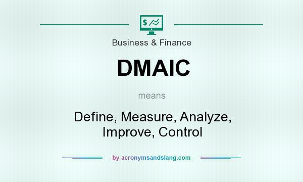 What does DMAIC mean? It stands for Define, Measure, Analyze, Improve, Control