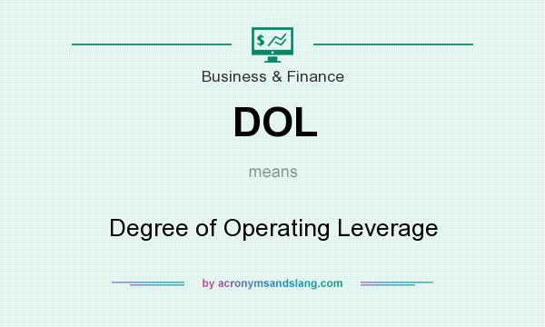 What does DOL mean? It stands for Degree of Operating Leverage