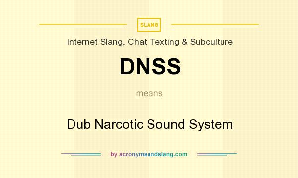 What does DNSS mean? It stands for Dub Narcotic Sound System