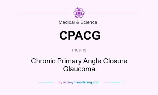 What does CPACG mean? It stands for Chronic Primary Angle Closure Glaucoma