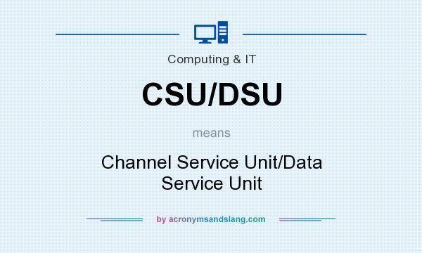 What does CSU/DSU mean? It stands for Channel Service Unit/Data Service Unit