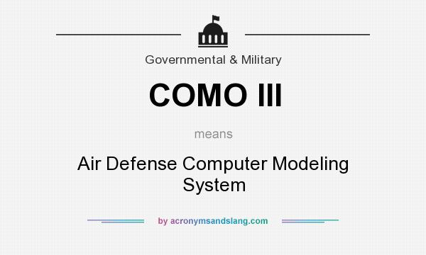 What does COMO III mean? It stands for Air Defense Computer Modeling System