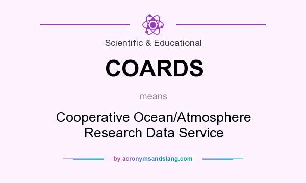 What does COARDS mean? It stands for Cooperative Ocean/Atmosphere Research Data Service