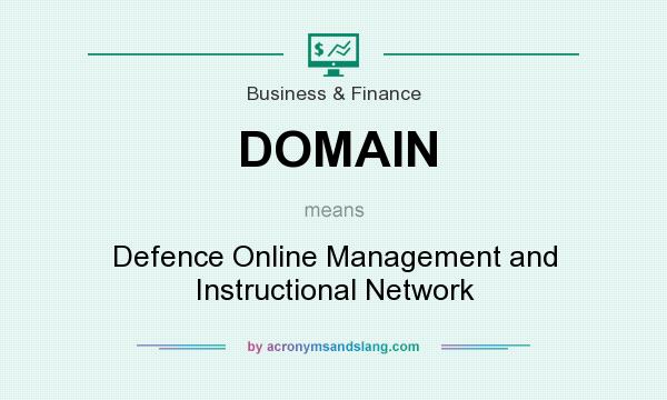 What does DOMAIN mean? It stands for Defence Online Management and Instructional Network
