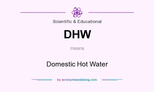 What does DHW mean? It stands for Domestic Hot Water