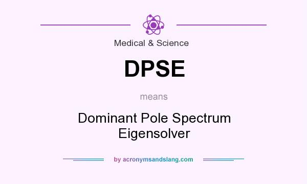 What does DPSE mean? It stands for Dominant Pole Spectrum Eigensolver