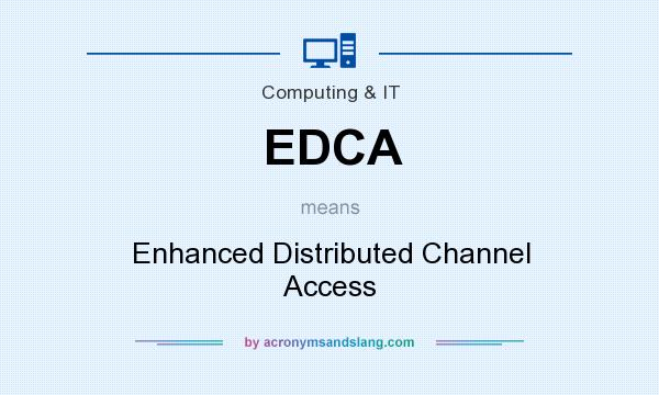 What does EDCA mean? It stands for Enhanced Distributed Channel Access