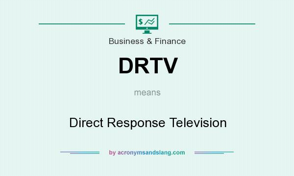 What does DRTV mean? It stands for Direct Response Television