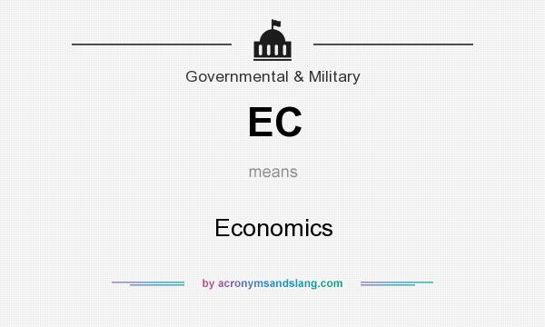 What does EC mean? It stands for Economics