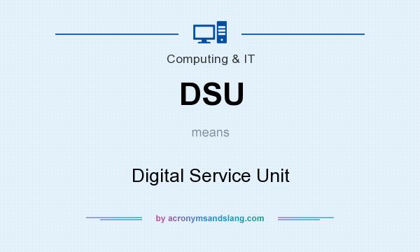What does DSU mean? It stands for Digital Service Unit