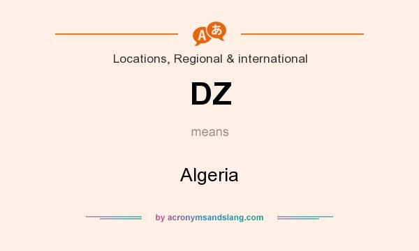 What does DZ mean? It stands for Algeria