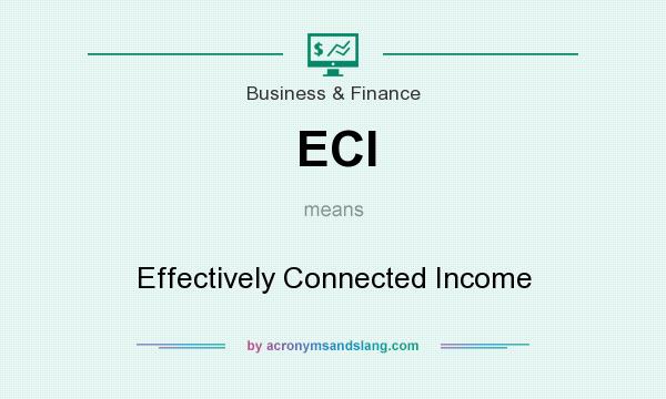 What does ECI mean? It stands for Effectively Connected Income