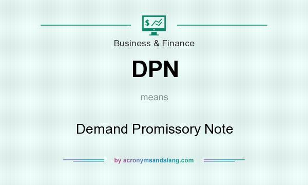 Dpn  Demand Promissory Note In Business  Finance By