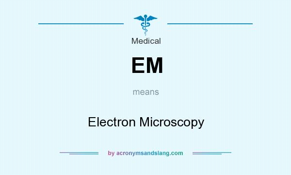 What does EM mean? It stands for Electron Microscopy