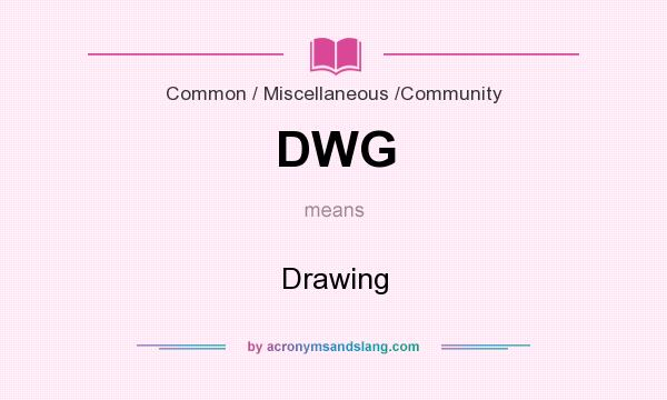 What does DWG mean? It stands for Drawing