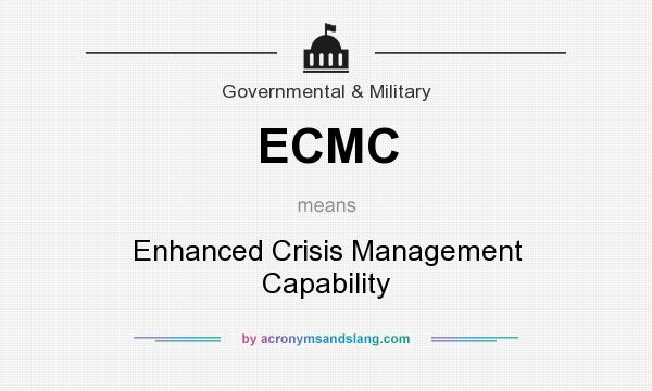What does ECMC mean? It stands for Enhanced Crisis Management Capability