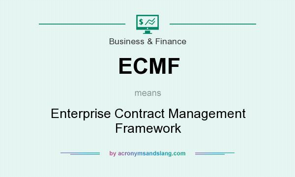 What does ECMF mean? It stands for Enterprise Contract Management Framework