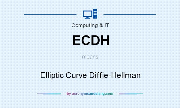 What does ECDH mean? It stands for Elliptic Curve Diffie-Hellman