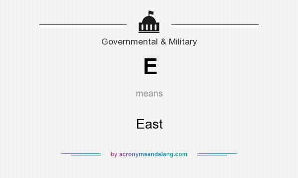 What does E mean? It stands for East