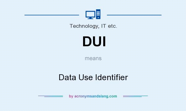 What does DUI mean? It stands for Data Use Identifier