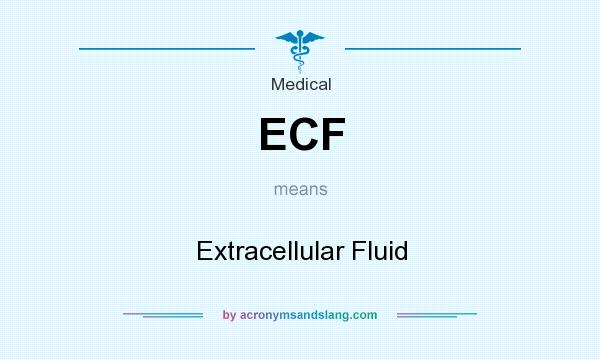 What does ECF mean? It stands for Extracellular Fluid