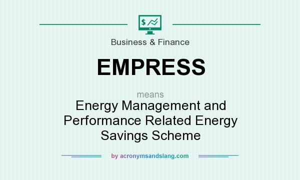 What does EMPRESS mean? It stands for Energy Management and Performance Related Energy Savings Scheme