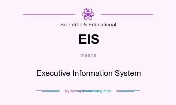 What does EIS mean? It stands for Executive Information System