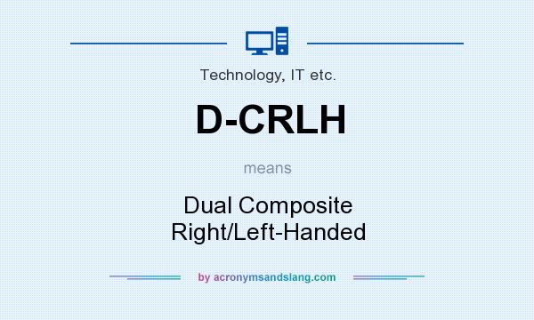 What does D-CRLH mean? It stands for Dual Composite Right/Left-Handed