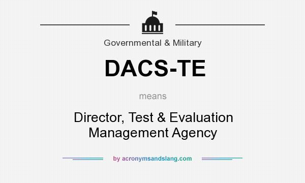 What does DACS-TE mean? It stands for Director, Test & Evaluation Management Agency