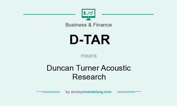 What does D-TAR mean? It stands for Duncan Turner Acoustic Research