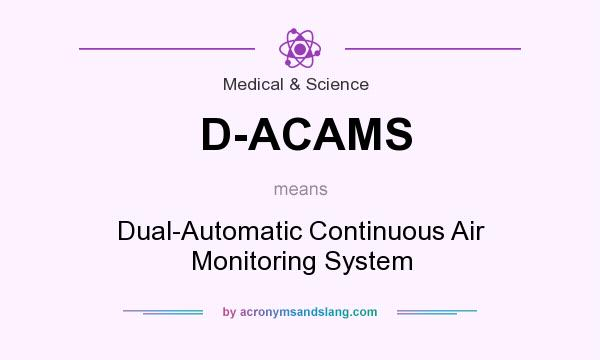 What does D-ACAMS mean? It stands for Dual-Automatic Continuous Air Monitoring System