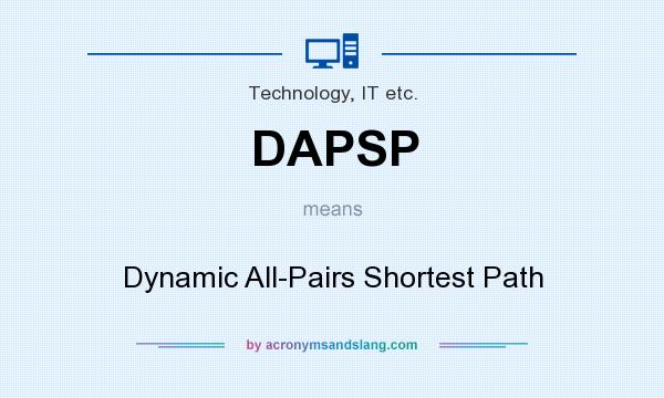 What does DAPSP mean? It stands for Dynamic All-Pairs Shortest Path